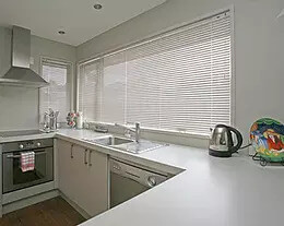 Security Screens QLD Window Coverings Blinds, Shutters & Curtains - Aluminium Venetian Blinds White