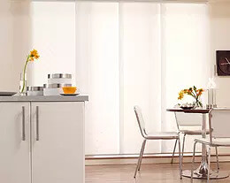 Security Screens QLD Window Coverings Blinds, Shutters & Curtains - Panel Glide Blinds White Clean