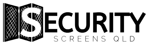 Security Screens QLD Company Logo Full Black and White