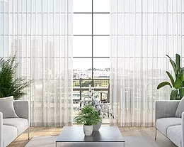 Security Screens QLD Window Coverings Blinds, Shutters & Curtains - S-Fold Curtains Neat and Clean